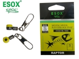 ESOX RAPTOR MOVING SWIVEL WúINTERLOCK SNAP